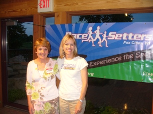 Kathy Jankowski, the PaceSetters President with Me