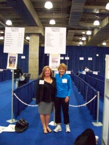 Tracy and me at BEA before my book signings