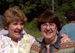 Lynda Drews and Beezie MacNeil at Munising, MI Bruce MacNeil Memorial Run