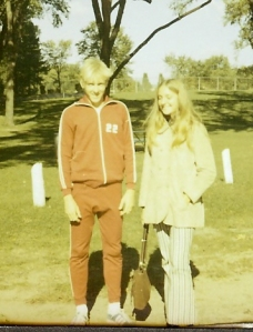 Jim and Lynda Drews at 1971 La Crosse X-Country Meet