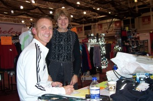 Berkeley Running Company owner - David Meixelsperger with Lynda Drews at Milwaukee Lakefront Marathon Expo